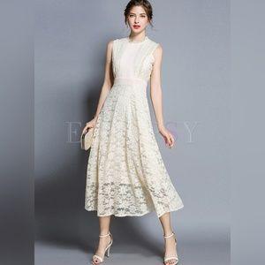 Ezpopsy Lace Midi Dress